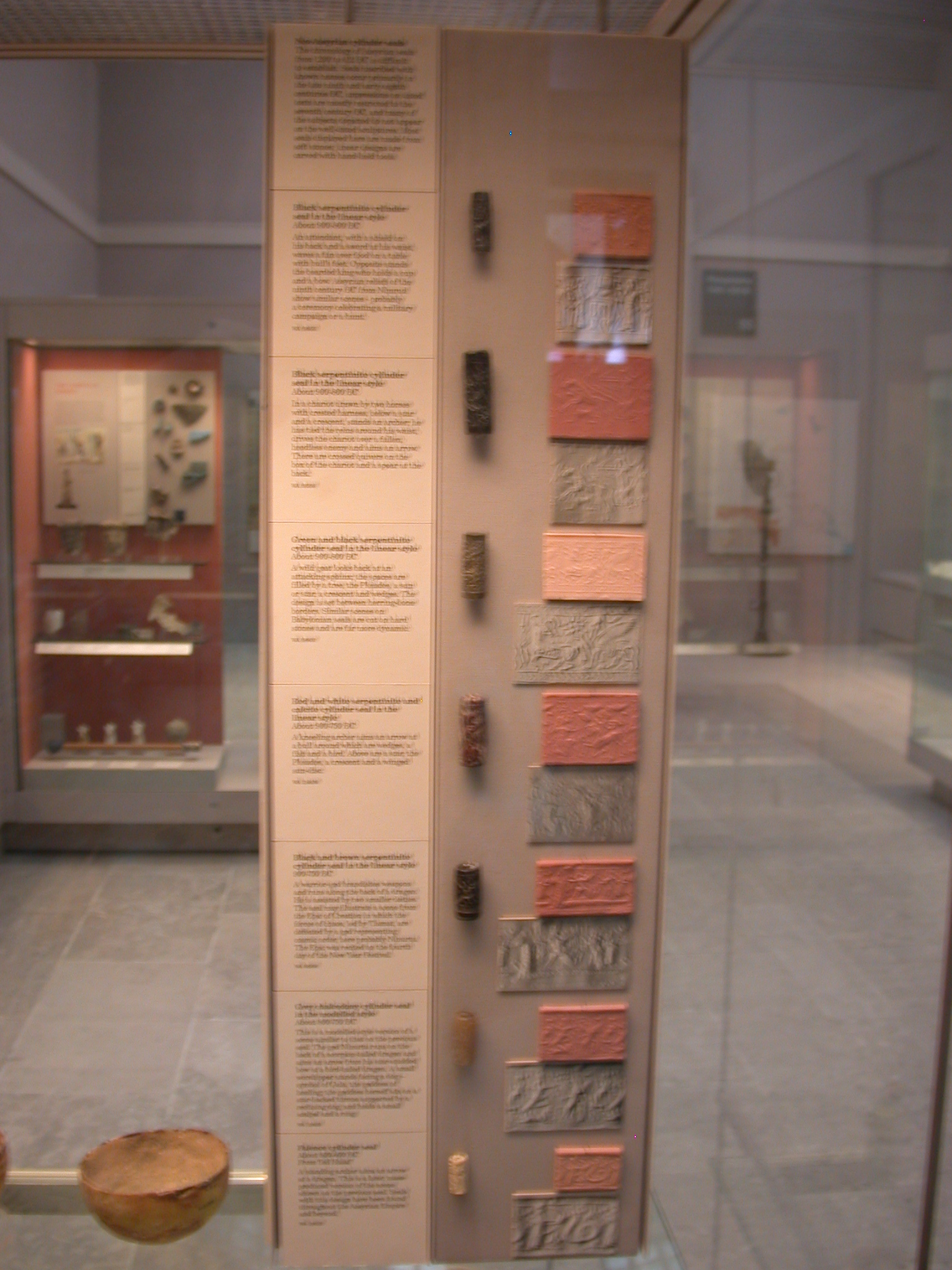 Neo-Assyrian Cylinder Seals, Mostly 900-750 BCE, in British Museum, London, England