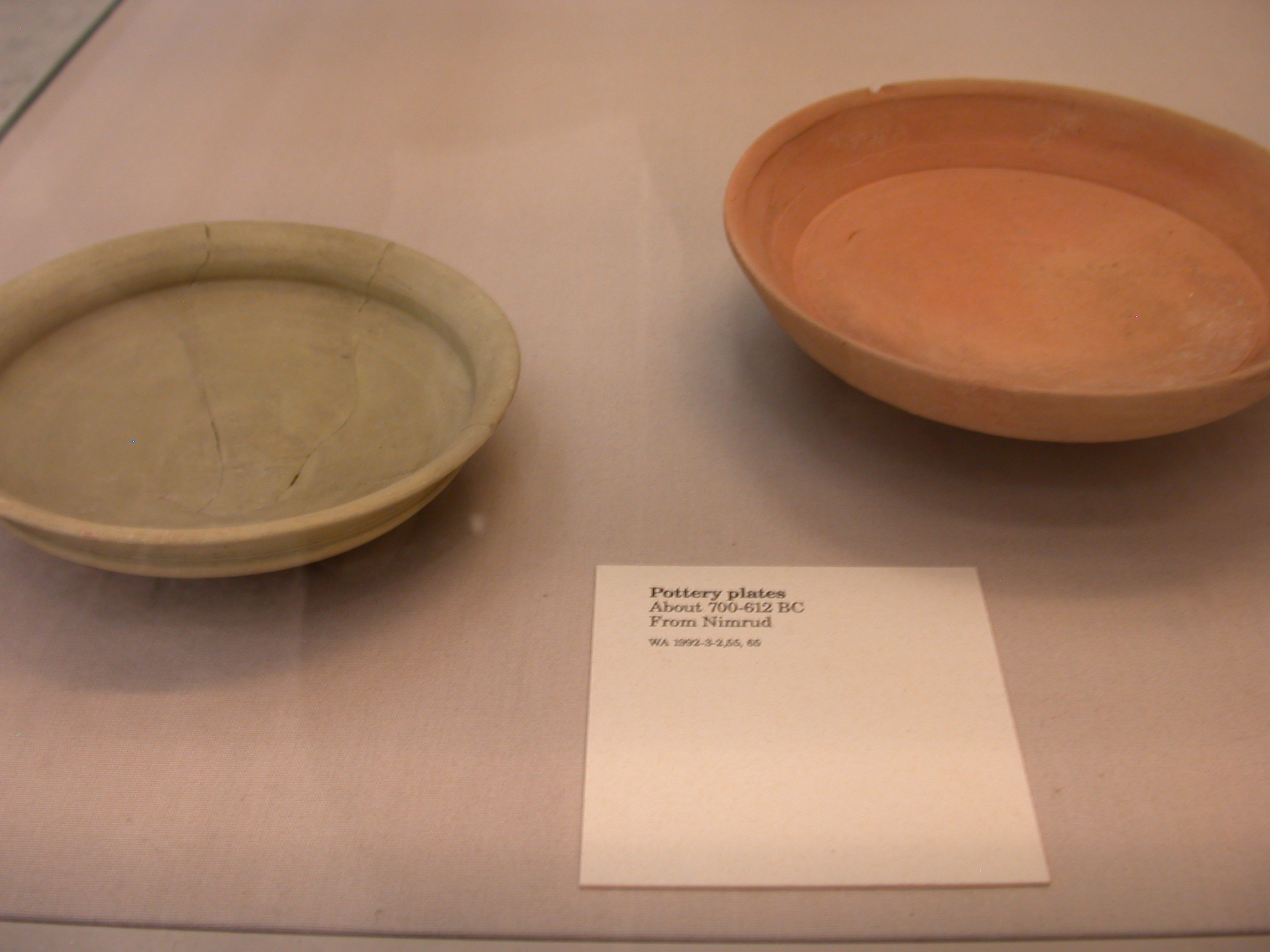 Pottery Plates, About 700-612 BCE, Nimrud, Assyria, in British Museum, London, England