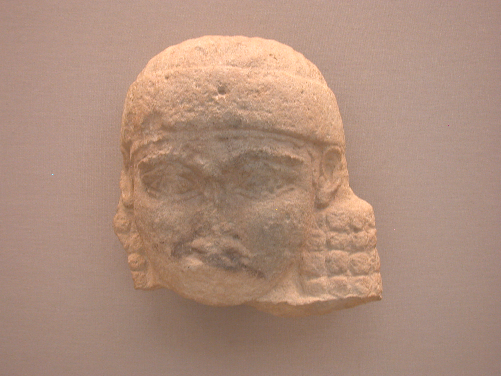 Head of a Woman, Statue, About 700-625 BCE, Ishtar Temple Area, Nineveh, Assyria, in British Museum, London, England