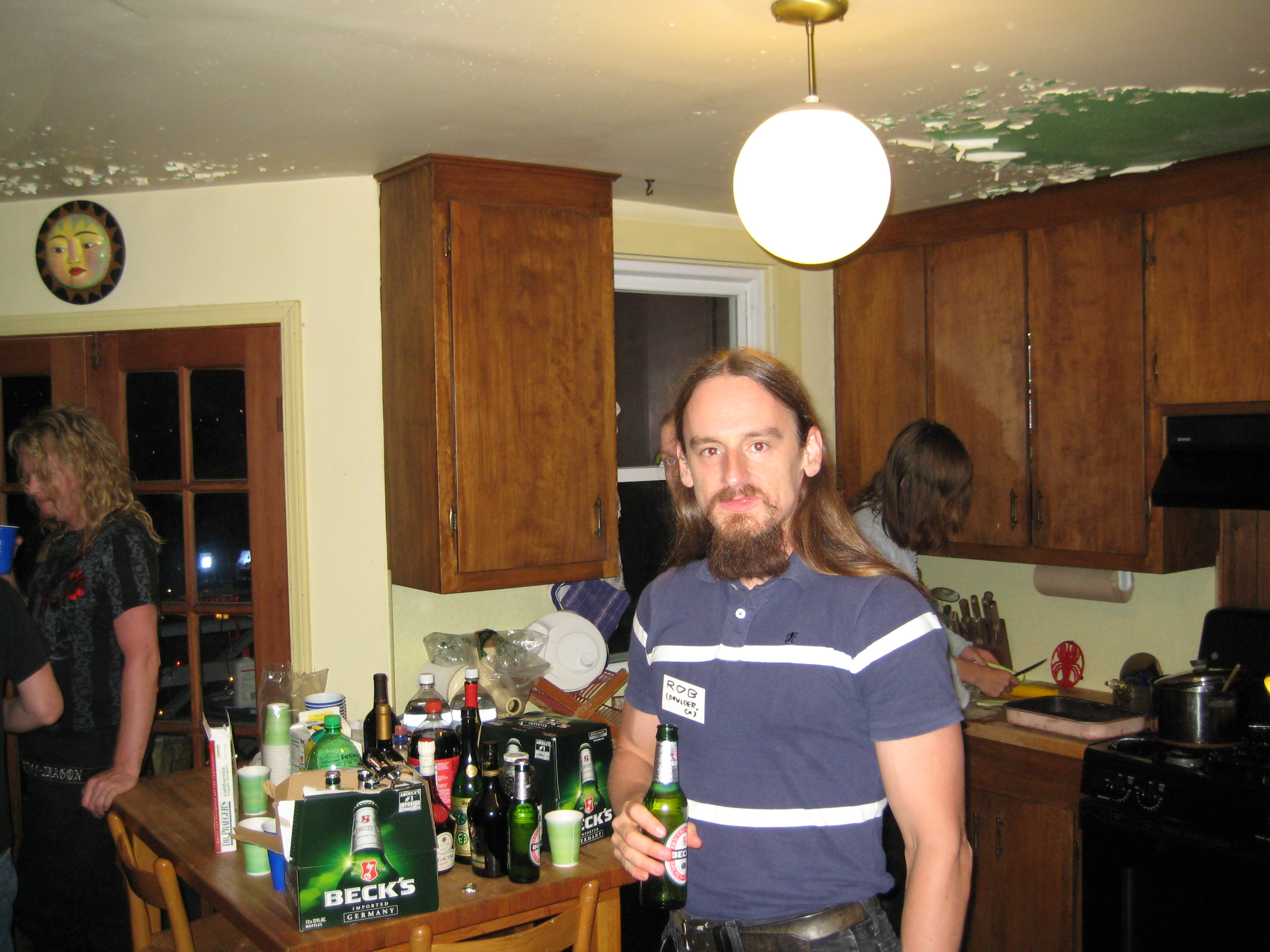 Rob Drinking a Beer in the Kitchen
