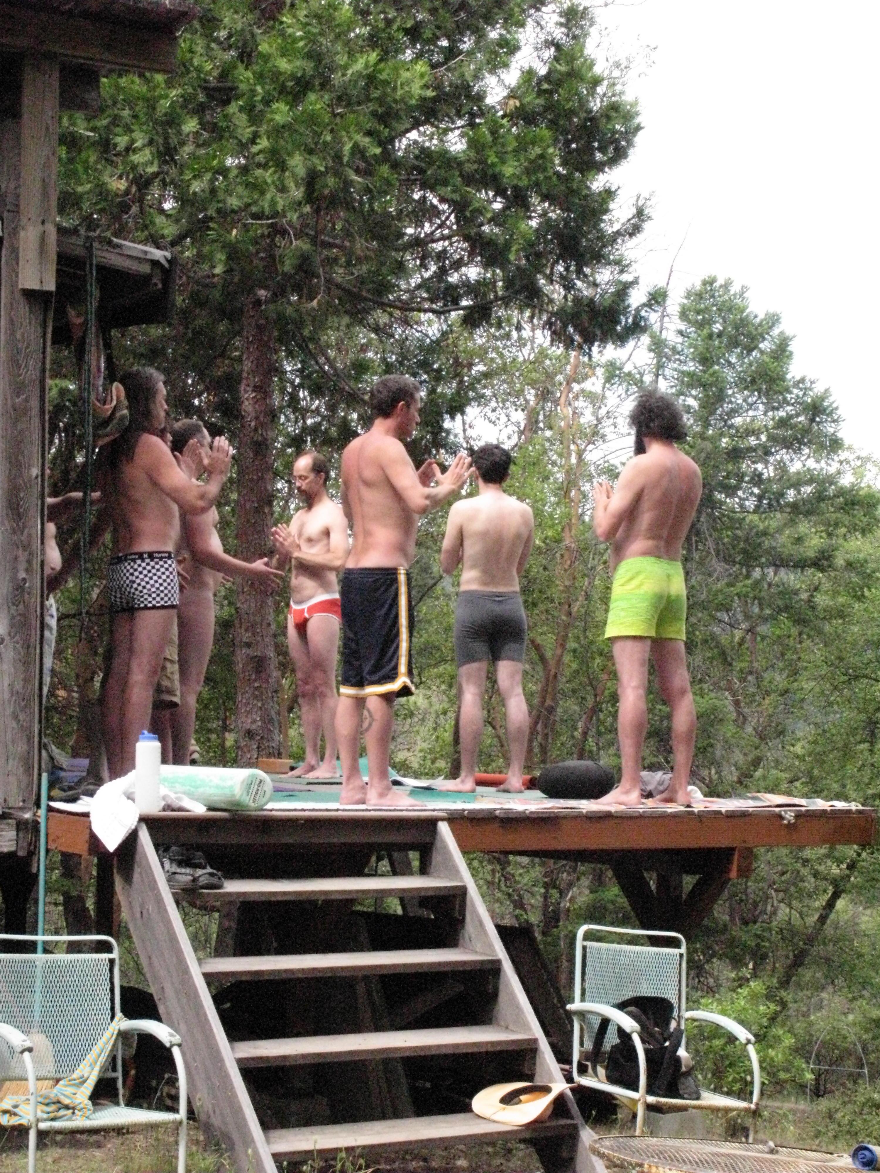 Yoga on Cabin Deck, Covelo Yoga and Healing Festival