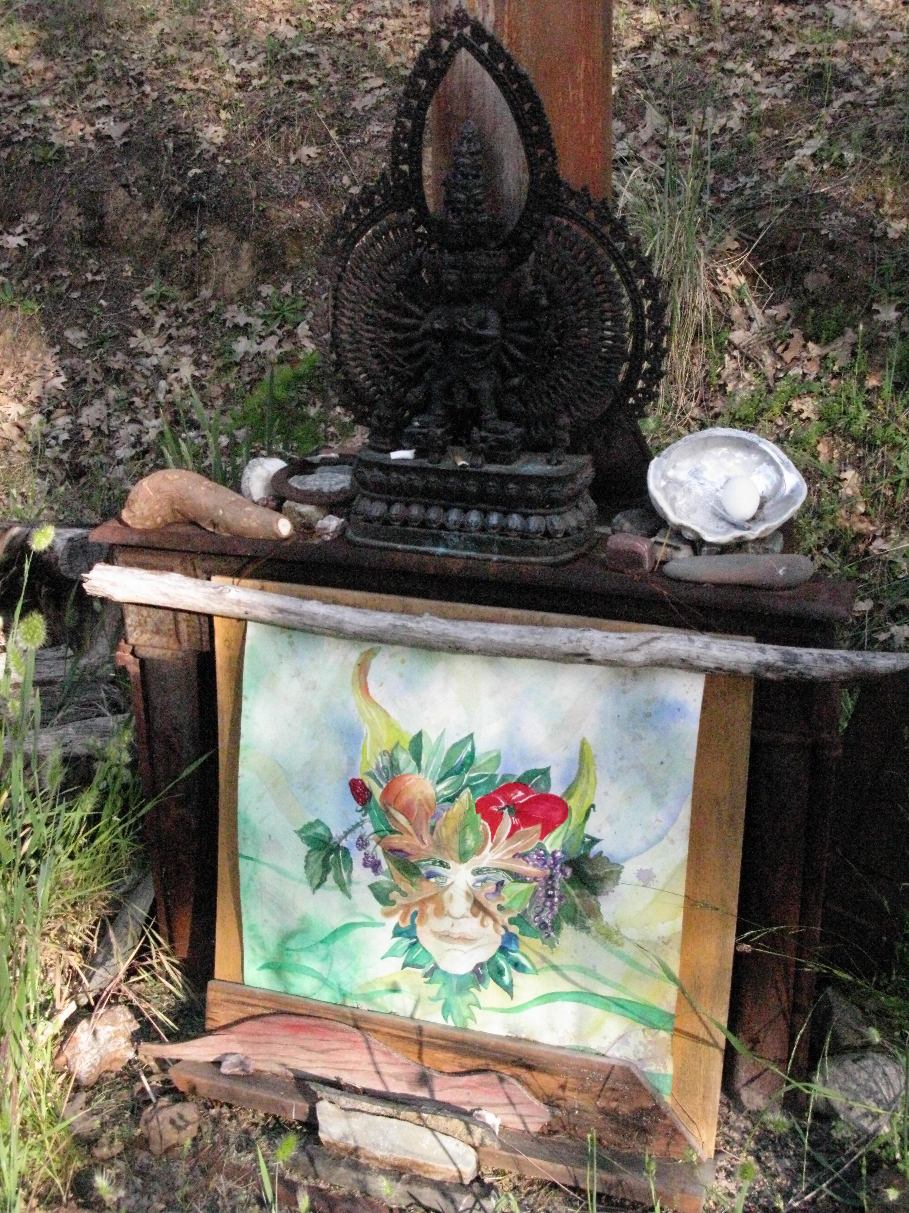 Altar Near Cabin, Covelo Yoga and Healing Festival